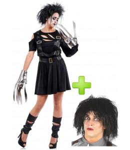 Disfraz de Mujer Tijeras con peluca