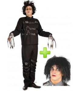 Kostüm-Mann-schere mit perücke
