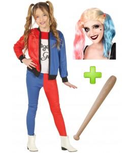 Disfarce de Harley Quinn para menina