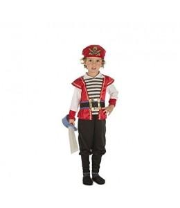 Disfarce de Pequeno Pirata Vermelho