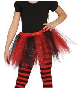 Tutu Brillante rojo y negro 30cm