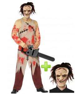 Disfraz de Carnicero Sangriento con mascara
