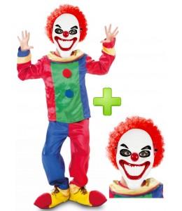 Disfraz de payaso asesino infantil colores