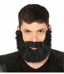 Barba Tupida Negra