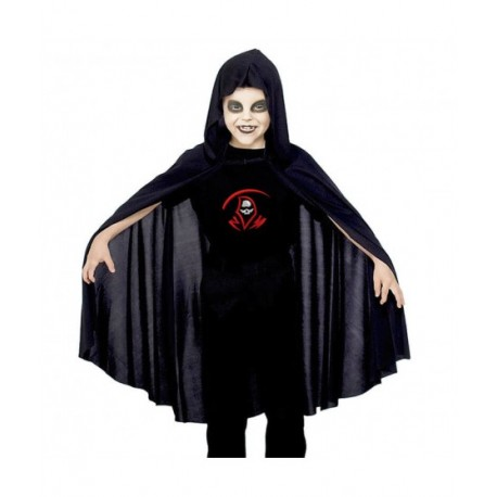 Capa con Capucha Negra 90cms