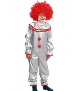 Disfraz de Payaso Asesino Gris infantil