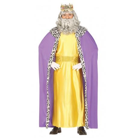 Disfraz de Rey Mago Amarillo y Lila