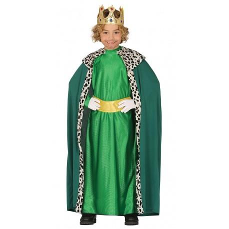 Disfraz de Rey Mago Verde Infantil