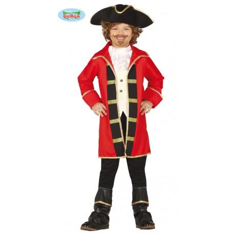 Disfraz de Pirata con Casaca Roja Infantil