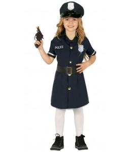 Disfraz de Policia Niña Infantil