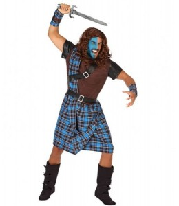 Disfraz de Escoces Azul