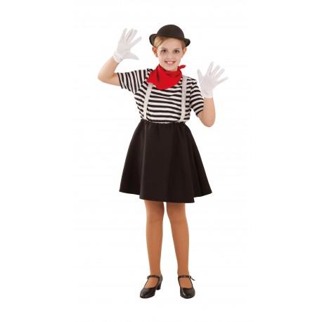 DIsfraz de Mimo  Chica Infantil