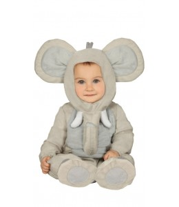Disfraz de Elefante Gris Baby