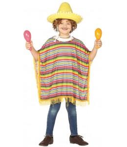 Disfraz de Mejicano Poncho Infantil