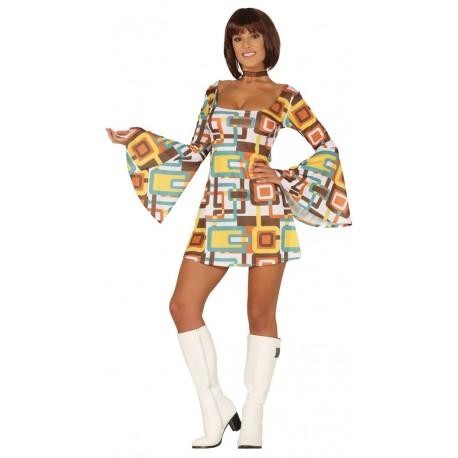 Disfraz de Disco Fever Marron Mujer