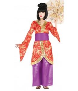 Disfraz de Geisha Morada