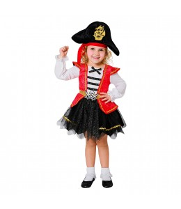 Disfraz de pirata Caribeña con tul Infantil