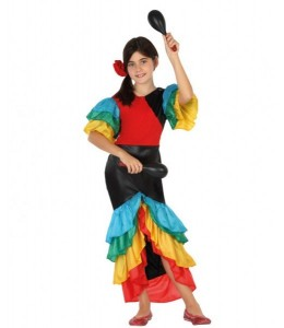 Disfraz de Rumbera Infantil
