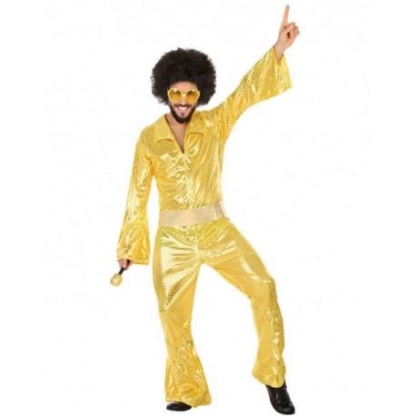Disfraz de Buzo Disco Dorado Hombre