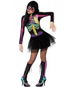 Disfraz de Esqueleto Colores Vestido