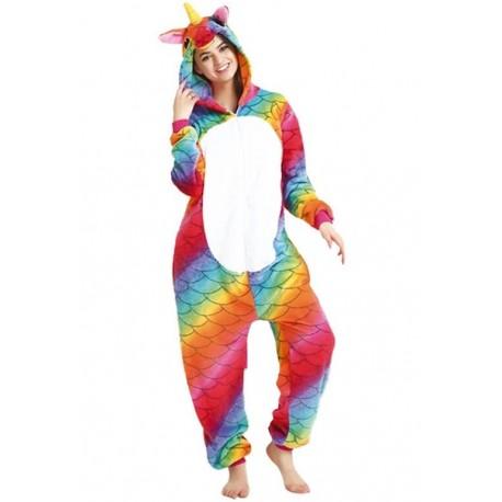 Disfraz de Unicornio Arcoiris Pijama Peluche