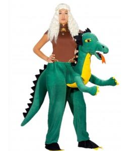 Disfraz Reina Dragones a hombros de Dragon