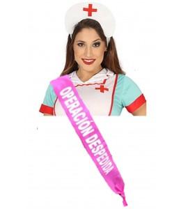 Set de diadema de  Enfermera con banda - Complementos despedida de soltera