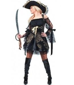 Disfraz de Piratesa Negro