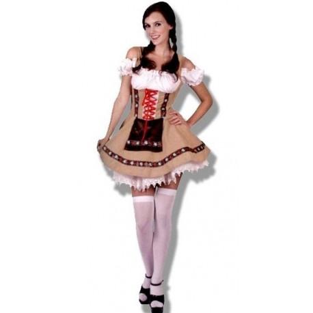 Disfraz de Tirolesa Marron