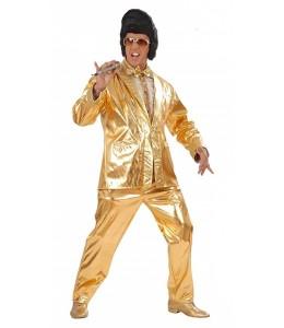 Disfraz de Rey del rock Dorado
