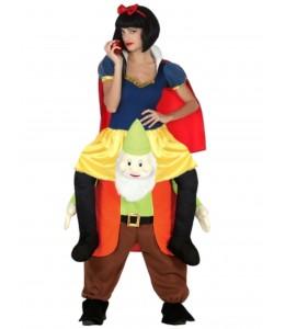 Disfraz Princesa Nieves a hombros enanito para mujer