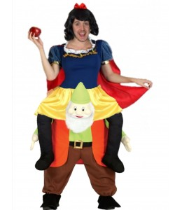 Disfraz Princesa Nieves a hombros enanito para hombre