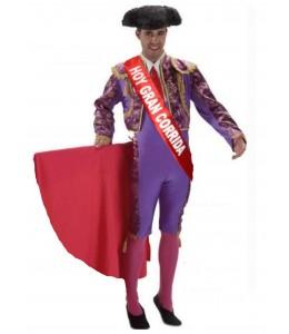 Disfraz de Torero Morado con Banda - Despedidas de soltero