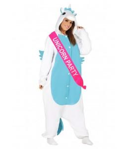 Disfraz de Unicornio Azul con banda - Disfraces de animales