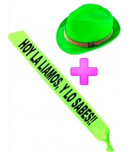 Set Gorro Verde y banda - Complementos Despedidas