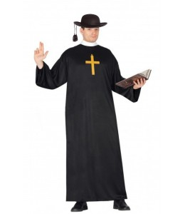 Disfraz de Cura con Sombrero y cruz