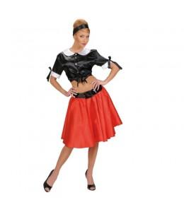 Falda Años 50 Roja