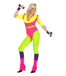 Disfraz de Instructora de Aerobic años 80