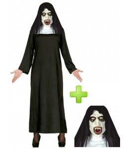 Disfraz de Monja Fantasma - Pack Halloween