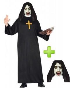 Disfraz de Monja Fantasma para Hombre - Pack Halloween