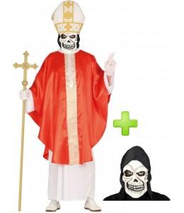 Disfraz de Papa Rojo calavera