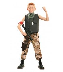 Disfraz de Soldado de Combate Infantil