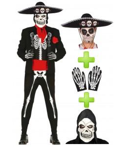 Disfraz de Mariachi esqueleto completo - Disfraces Halloween