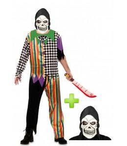 Disfraz de Payaso asesino Calavera - Disfraces Halloween