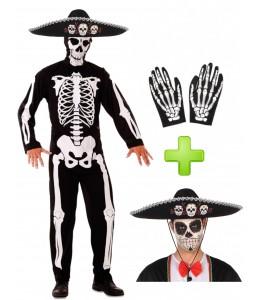 Disfraz de Esqueleto Mejicano - Disfraces Halloween