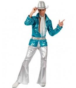 Disfraz de Disco Azul Hombre