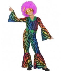 Disfraz de Disco Multicolor Niña