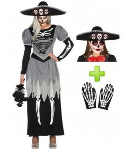Disfraz de Catrina Novia Mariachi - Disfraces de Halloween