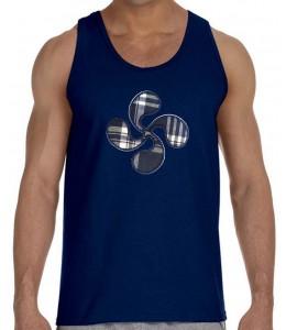 Camiseta Lauburu Tirantes Hombre Azul