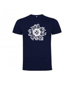 Camiseta Eguzkilore Lauburu Hombre Azul